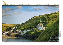 Carry-all Pouch featuring the photograph Port Issac Hills by Brian Jannsen
