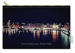 Carry-all Pouch featuring the photograph Port Of San Juan Night Lights by DigiArt Diaries by Vicky B Fuller