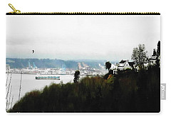 Carry-all Pouch featuring the photograph Port Of Tacoma At Ruston Wa by Sadie Reneau