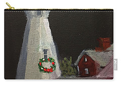 Port Sanilac Lighthouse At Christmas Carry-all Pouch