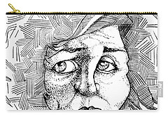 Portait Of A Woman Carry-all Pouch