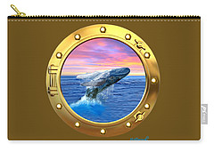 Porthole View Of Breaching Whale Carry-all Pouch