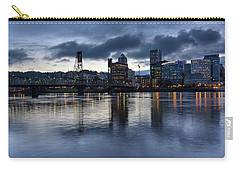Portland City Skyline With Hawthorne Bridge At Dusk Carry-all Pouch