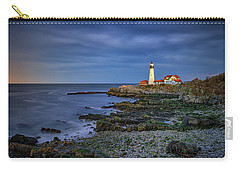 Carry-all Pouch featuring the photograph Portland Head Aglow by Rick Berk