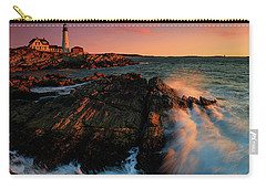 Carry-all Pouch featuring the photograph Portland Head First Light  by Emmanuel Panagiotakis