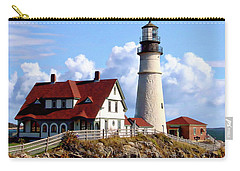 Portland Head Light Carry-all Pouch by Anthony Dezenzio