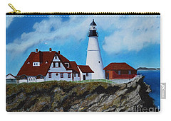 Portland Head Light In Maine Viewed From The South Carry-all Pouch
