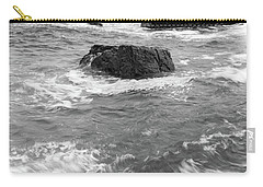 Carry-all Pouch featuring the photograph Portland Head Light Under Heavy Skies  -88356 by John Bald