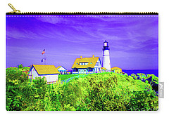 Portland Head Lighthouse Carry-all Pouch by Ann Johndro-Collins