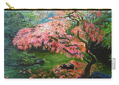 Carry-all Pouch featuring the painting Portland Japanese Maple by LaVonne Hand