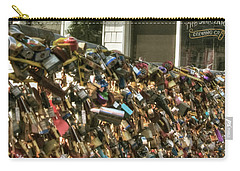 Carry-all Pouch featuring the photograph Portland Lobster Co - Locks Of Love by Joann Vitali