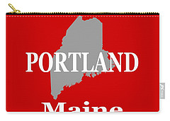 Carry-all Pouch featuring the photograph Portland Maine State City And Town Pride  by Keith Webber Jr