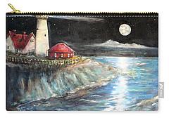 Portland Maine Twilight Carry-all Pouch by Bernadette Krupa