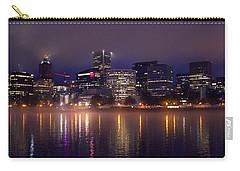 Portland Night Skyline Carry-all Pouch by Joseph Skompski