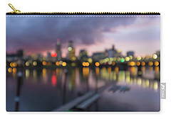 Portland Oregon City Skyline Out Of Focus Bokeh Lights Carry-all Pouch