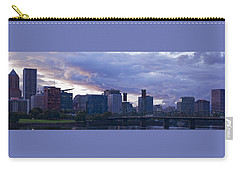 Portland Oregon Panorama Carry-all Pouch by Jonathan Davison
