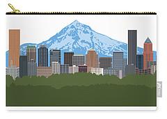 Portland Oregon Skyline Color Illustration Carry-all Pouch
