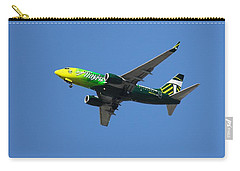 Carry-all Pouch featuring the photograph Portland Timbers - Alaska Airlines N607as by Aaron Berg