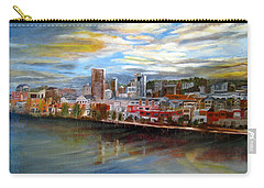 Portland Waterfront From Broadway Bridge Carry-all Pouch by LaVonne Hand