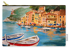 Carry-all Pouch featuring the painting Portofino II by Alan Lakin
