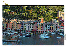 Carry-all Pouch featuring the photograph Portofino Morning Panoramic II by Brian Jannsen