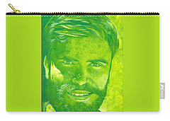 Portrait In Green Carry-all Pouch