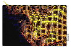 Carry-all Pouch featuring the digital art Portrait In Mesh by Rafael Salazar
