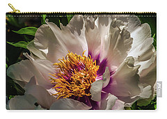 Portrait In White And Magenta Carry-all Pouch by Jim Moore