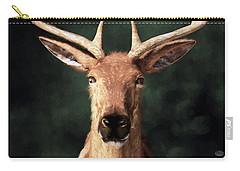 Carry-all Pouch featuring the digital art Portrait Of A Buck by Daniel Eskridge