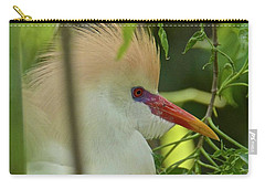 Portrait Of A Cattle Egret Carry-all Pouch