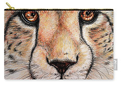 Portrait Of A Cheetah Carry-all Pouch