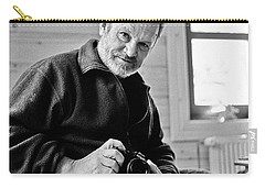 Carry-all Pouch featuring the photograph Portrait Of A Dead Photographer by Dubi Roman