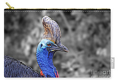 Portrait Of A Double-wattled Cassowary II Altered Version Carry-all Pouch