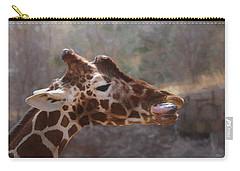 Portrait Of A Giraffe Carry-all Pouch by Ernie Echols