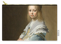 Portrait Of A Girl Dressed In Blue By J. Cornelisz Carry-all Pouch