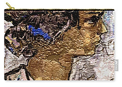 Carry-all Pouch featuring the digital art Portrait Of A Girl Pog2 by Pemaro