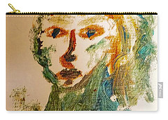 Carry-all Pouch featuring the painting Portrait Of A Girl  by Shea Holliman