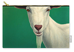 Portrait Of A Goat Carry-all Pouch by James W Johnson