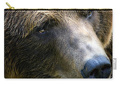 Portrait Of A Grizzly Carry-all Pouch