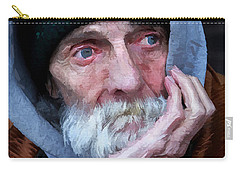 Portrait Of A Homeless Man Carry-all Pouch