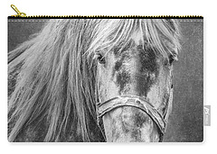 Carry-all Pouch featuring the photograph Portrait Of A Horse by Tom Mc Nemar