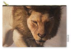 Portrait Of A Lion Carry-all Pouch by Daniel Eskridge