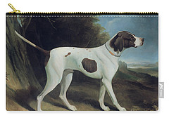 Portrait Of A Liver And White Pointer Carry-all Pouch
