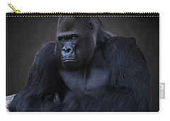 Portrait Of A Male Gorilla Carry-all Pouch