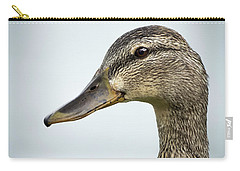 Portrait Of A Mallard Carry-all Pouch