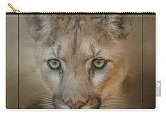 Portrait Of A Mountain Lion Carry-all Pouch