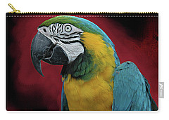 Carry-all Pouch featuring the photograph Portrait Of A Parrot by Jeff Burgess