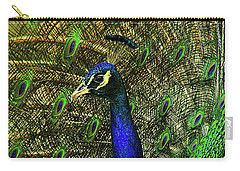 Carry-all Pouch featuring the photograph Portrait Of A Peacock by Jessica Brawley