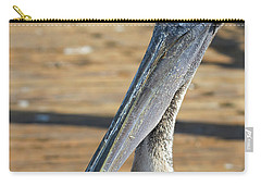 Portrait Of A Pelican On The Pier Carry-all Pouch