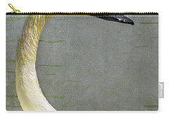 Portrait Of A Pond Swan Carry-all Pouch